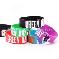 5 pcs/set, free shipping/ GREEN DAY / Silicone bracelet/1 inch Silicone wrist band/ BRACELET/ mix order welcome