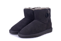 Ivg snow boots genuine leather 3352 low boots low state boots cow muscle boots female shoes outsole winter boots