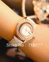 Minimum Order Of $15 Free Shipping Fashion Rhinestone Cutout Ladies Watch Strap Women's Watch