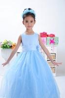 Retail 1Pcs 2014 new children dress girls Princess dress chiffon Big flower dresse for summer autumn for wedding free shipping
