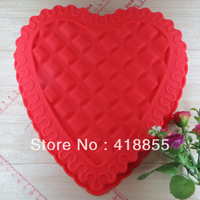 DIY Microwave oven Silicone Cake Mould Mousse Heart Shape Bread Mold Love Grid Baking Pan Tool