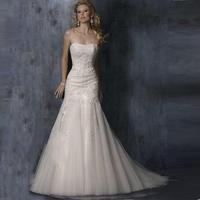 Fish tail wedding dress formal dress fashion fish tail wedding dress the bride wedding dress slim hip train
