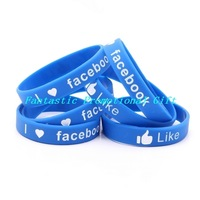 50 pcs/set, free shipping/I LOVE (HEART) FACEBOOK/ Silicone bracelet/ Silicone band/ mix order welcome