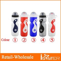 Free Shipping 2013 Wholesale Outdoor Cycling Sport Bike Water Bottle With Suction Nozzle And  Dust Cover PE Water Bottle