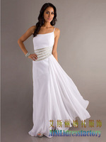 Wedding dress european version of the fashion one shoulder princess bride evening dress bridesmaid dress formal dress prom