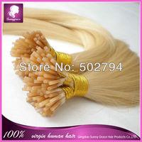 "#613 Charming blond color 100pcs/lot Russian virgin remy human hair 8-32"" I tip hair extension keratin hair extension 1g/pc"