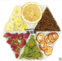 360g Lemon lose weight combinations scented tea lotus leaf hawthorn cassia seed Gongju Rose flower tea chinese health care tea
