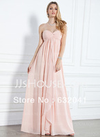 Buy Pink Strapless Sweetheart Neckline Fold Zipper Neat,Sexy Woman Classic Attractive Bridesmaid Dresses Free Shipping HK0275