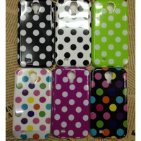 Polka Dots Gel TPU Skin Case For Samsung i9500 Galaxy S4 IV free shipping