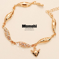 Austria crystal fox bracelet female fashion vintage rose gold bracelets jewelry multi-layer free shipping