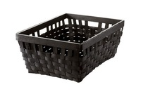 Free shipping, 1 piece storage basket, basketry, solid cottonwood, two colors, white and black,