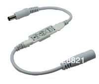 10Pcs/Lot Mini 3Keys Dimmer Single Color LED Controller DC5-24V 4Ax1Channel for Low Voltage Strips