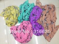 Wholesale Fashion newest ladies swallow  print  scarf