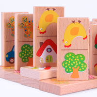 educational toy Wooden beech 28 puzzle baby blocks  educational toy