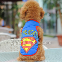 2 thin cool mesh super man sports vest pet clothes summer teddy
