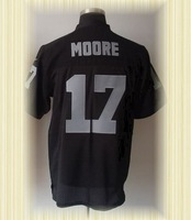 Arrived New Oakland Football jerseys embroidery logo 17 Denarius Moore Black white Elite jerseys embroidery logo
