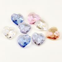 Free Shipping Heart crystal sew-on drill glass diamond diy material rhinestone diy accessories 10pcs/lot