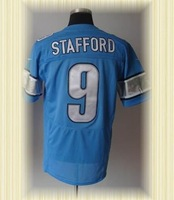 Arrived New Detroit Football jerseys embroidery logo 9 Matthew Stafford Blue Elite jerseys embroidery logo