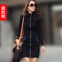 new 2013   autumn show thin buttock big size dress Free shipping