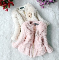 Retail 1 pcs children spring winter coat outerwear with flower print jackets for girls warm Fashion CCC051