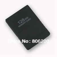 Free Shipping Hot sale New Black 128MB Memory Card Game Save SaverData Stick Module For Sony PS2 PS Playstation 2