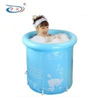 Super thick provinces folded water bath bucket Adult inflatable tub Bath bubble bath shower barrels