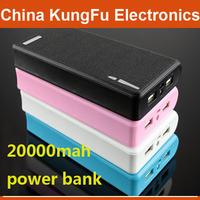 10pcs DHL 20000mAh  wallet style LED Lighting Power Bank  USB Battery Charger External Battery free shipping