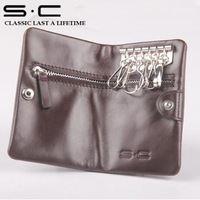Supply S.C Brand Wallet Men Leather Coin Wallet + Man Pursekey holder Men Wallet 100% hand made stitching men wallet free ship