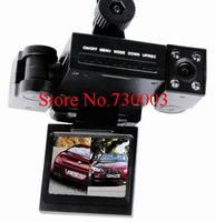 Dual Lens Car DVR 2'' HD TFT 8 LED IR Night Vision Support Russian Car Camera Black Box Car Video Recorder