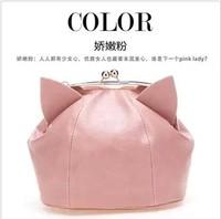 Cartoon mini 2014 female bags feline cat ears messenger bag bags