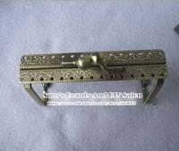 "New Arrival 9cm 3.5"" retro bronze square kiss clasp metal purse frames bag handle diy accessory 20pcs"
