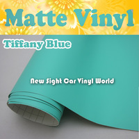 High Quality Tiffany Blue Matte Vinyl Wrap Roll Air Free Blubble For Car Stickers FedEx FREE SHIPPING Size: 1.52*30m/Roll
