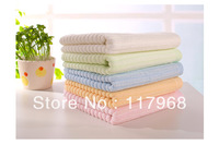 4pcs/lot bamboo pulp fiber face towel, strong absorption thick strip soft and skin-kindly towel for kids, 5 color