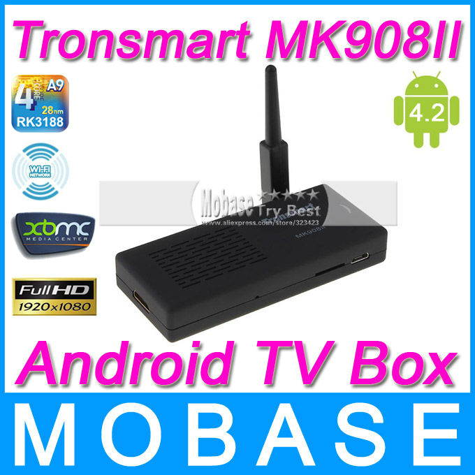 Tronsmart MK908II Android TV BOX Quad Core Mini PC RK3188 1.6GHz 2G/8G Antenna XBMC HDMI USB OTG Micro SD WiFi Smart TV Receiver(China (Ma