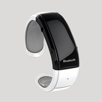 Multi-Functional Vibrating Bluetooth Bracelet Shows Time/Caller ID/Phone Number with Phone book Synchronization and Earphone