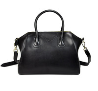 2013 Newest Women's Fashion Designer Tote Bag+Messenger genuine leather one shoulder cross-body black smiley bag