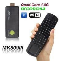 MK809III RK3188 mini pc android quad core Mini PC TV Player (EU Plug)+Measy Mini 2.4G Air Mouse Keyboard RC12