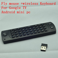 Free Shipping 2.4GHz wireless  Fly Air Mouse Keyboard for google android Mini PC TV Palyer box