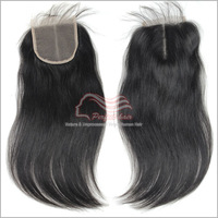 "Peruvian straight virgin hair size 4""*4"" silky lace top closure 1pc/lot 8""-18"" color 1B can be dyed free shipping"