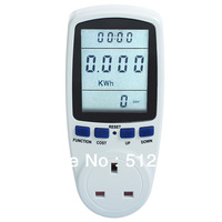 Multifunction Environmental Meter Socket Electric Power Energy Monitoring And Metering And Testing  UK Plug Free Shipping