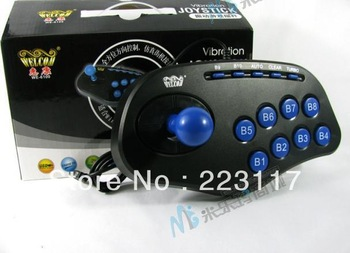 PC USB arcade joystick gamepad game controller real street fighting feeling Free shipping