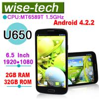 2013 original U650 MT6589T Quad Core 1GB/2GB RAM 16GB/32GB ROM Android 4.2.2 phone\ammy