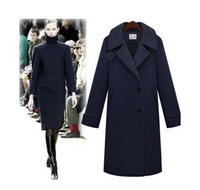 2013 women's autumn and winter high stand collar wool overcoat wool slim wool coat outerwear female
