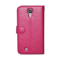 Luxury Genuine Leather Folio Wallet Case Cover For Samsung Galaxy S4 I9500 free shipping