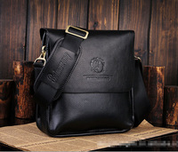 New Free Shipping Fashion Vertical Style Men Bag PU Leather Shoulder Business Sling Briefcases Bags