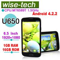 2013 new arrival U650 MT6589T Quad Core 1GB/2GB RAM 16GB/32GB ROM Android 4.2.2 phone\emma