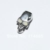 Luminous skull alloy bead pendant beads for Paracord Bracelet 10pcs/lot  Length:2.14cm Dia:1.15cm