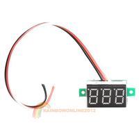R1B1 Portable Digital Voltmeter DC0-100V Red Light LED Panel Voltage Meter