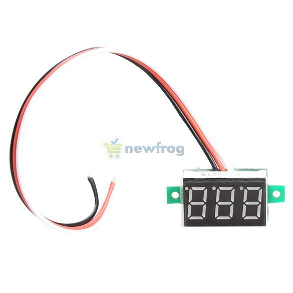 Portable Digital Voltmeter DC0-100V Red Light LED Panel Voltage Meter S7NF(China (Mainland))