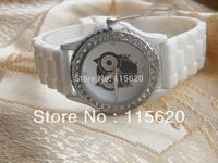 Free Shipping NEW Unique Owl Watch sillicone band Watch Wrist Watch women fashion watch 150pcs/lot